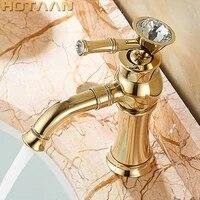 Robinet mitigeur en laiton avec torneiras en ceramique  robinet de lavabo de salle de bains en or fini or  livraison gratuite nouveaute para banheiro YT-5027