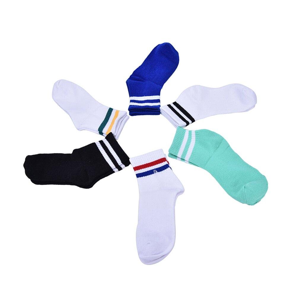 1 par de Calcetines deportivos de algodón, Calcetines Harajuku de Hip Hop, Calcetines de rayas coloridos Unisex, Calcetines de algodón para hombres, marca de medias de Patinaje
