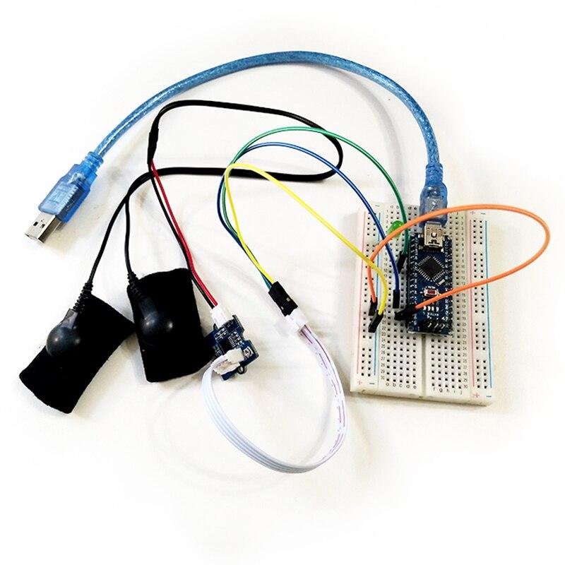 مجموعة أدوات استشعار استجابة الجلد الجلفانية (GSR - Sweating) لمستشعر مقاومة الجلد القابل للقياس من Arduino