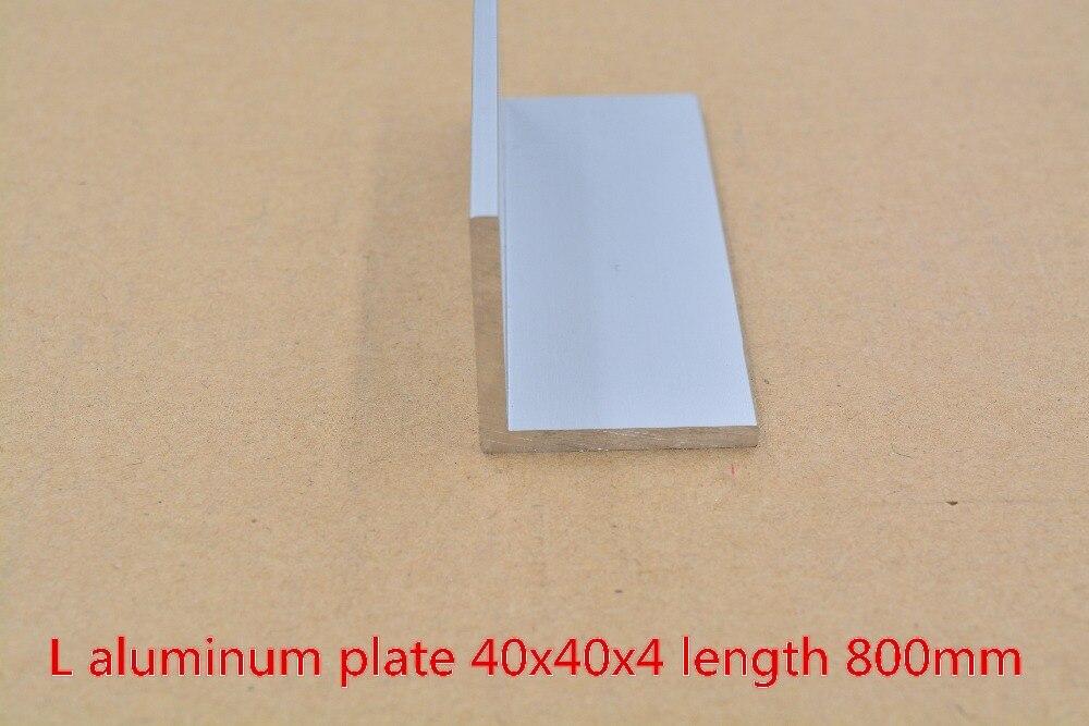 40mmx40mm aluminum plate length 800mm L aluminum profile angle aluminum thickness 4mm 1pcs