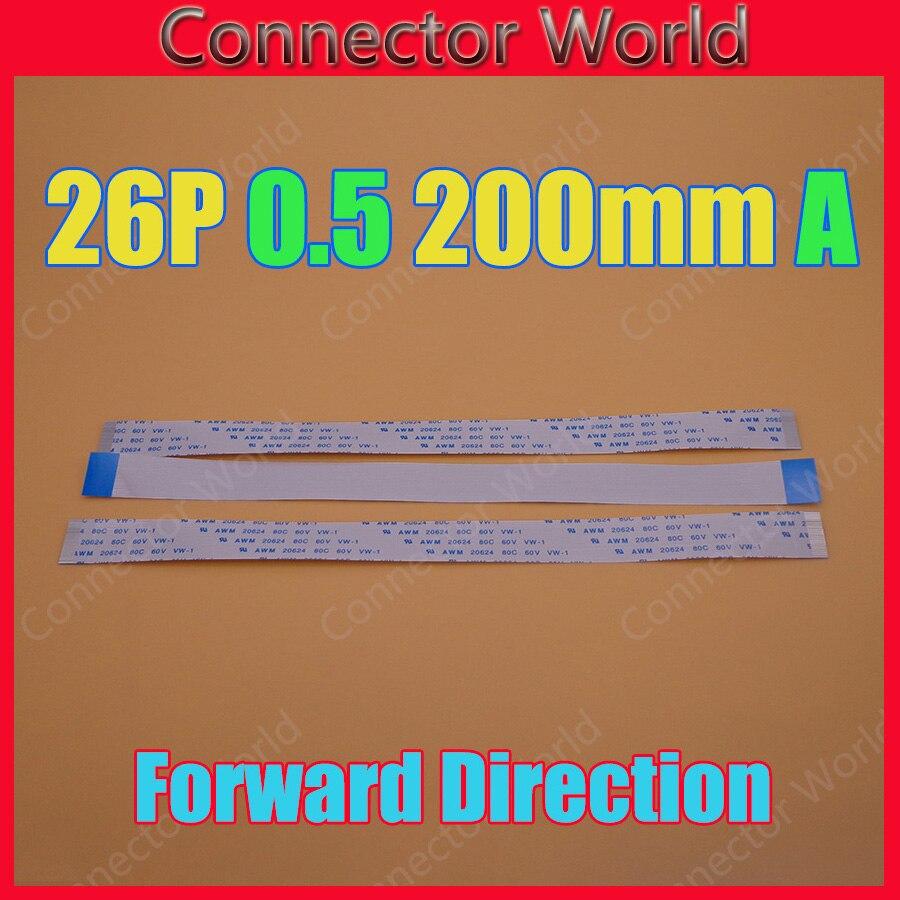 5-100 unids/lote nuevo cable plano flexible FFC FPC 26pin 0,5mm paso 26 pines longitud de avance 200mm ancho 13,5mm cinta 26 p Cable flexible