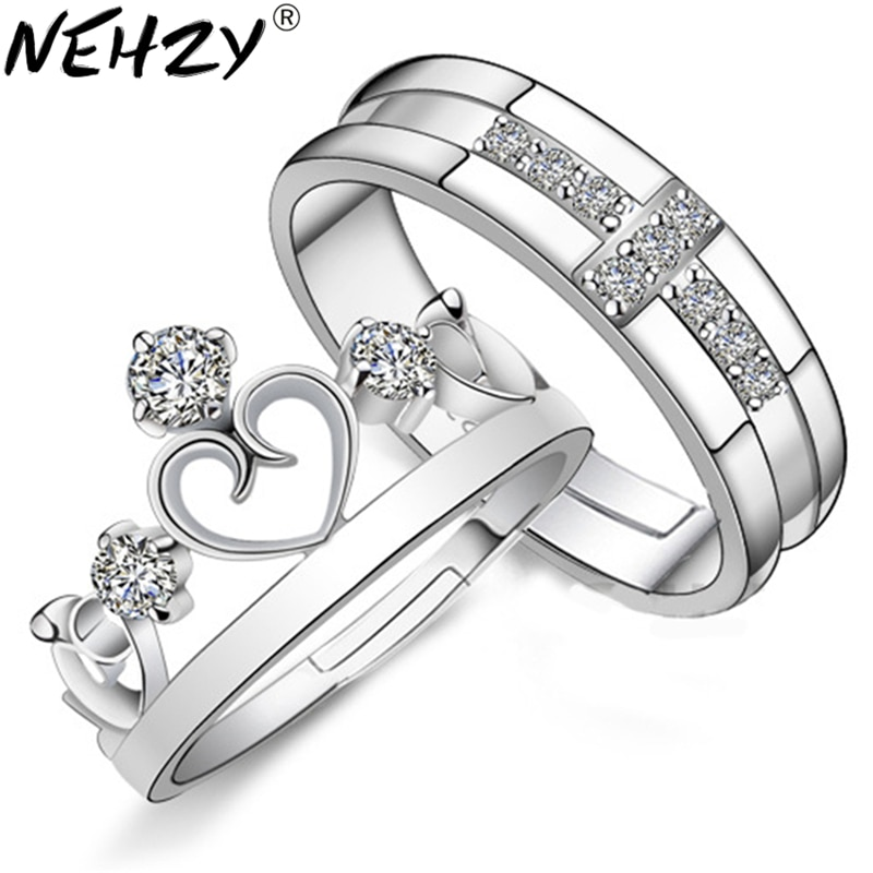 NEHZY 925 sterling silver new crown ring opening couple of high-quality fashion jewelry manufacturer