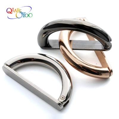 2 uds hebilla de Metal D para bolso de abrigo accesorios bolso de cierre enlace la hebilla sra. abrigo rompevientos botones d-ring metal hasp botón