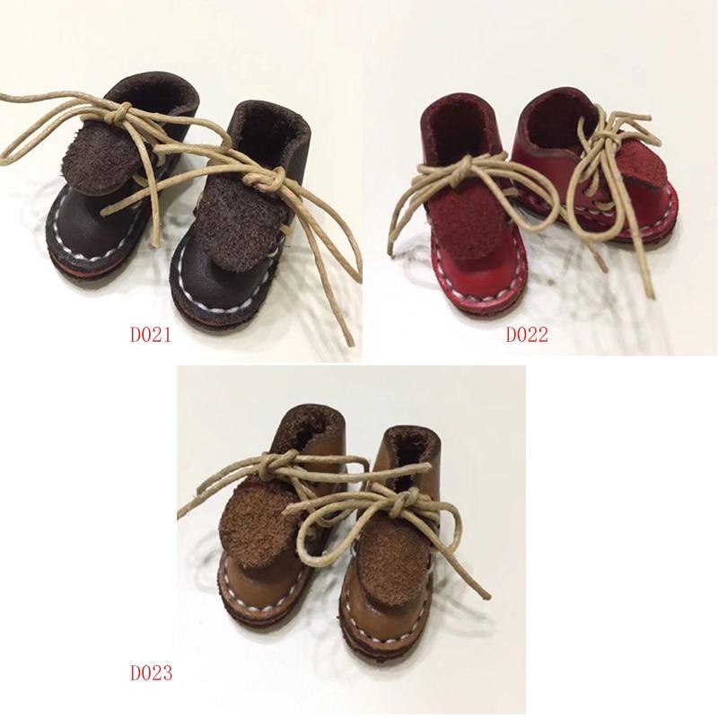 Reenvío zapatos de accesorios de muñeca BJD muñeca Blyth 1/6 30cm muñecas de 1/8 zapatos de cuero de la mezcla del color de la mezcla de un par