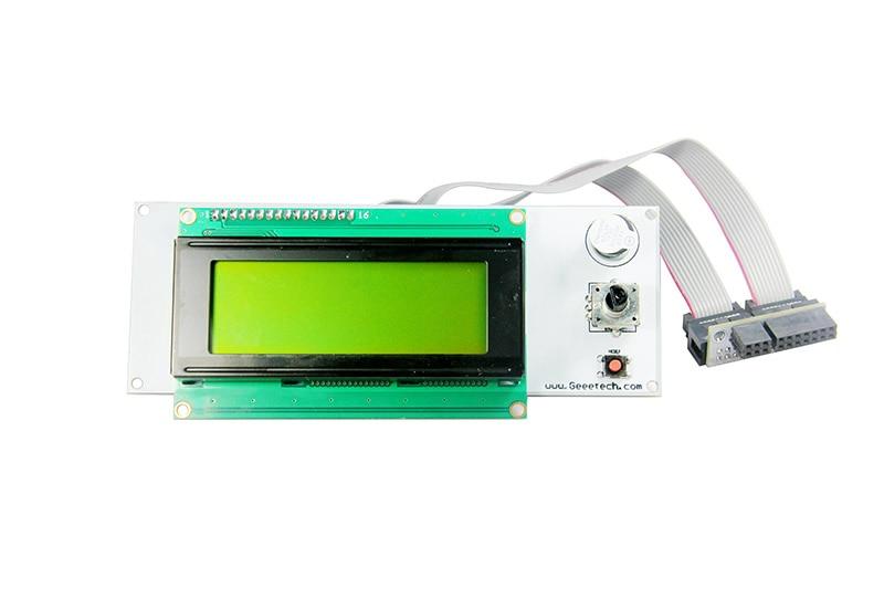 Yellow Color 3D Printer Reprap Smart Controller Reprap 2004 LCD Display control for Sanguinololu