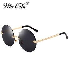WHO CUTIE 70s DISCO cirque lunettes de soleil rose   Verres transparents, monture métallique, verre circulaire, verres transparents, OM397