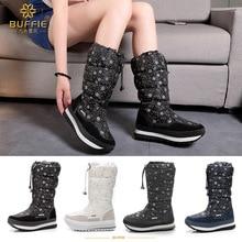 2019 Botas de nieve de invierno para mujer Botas de plumón para mujer Botas de felpa Botas de nieve impermeables para mujer alta zapatos
