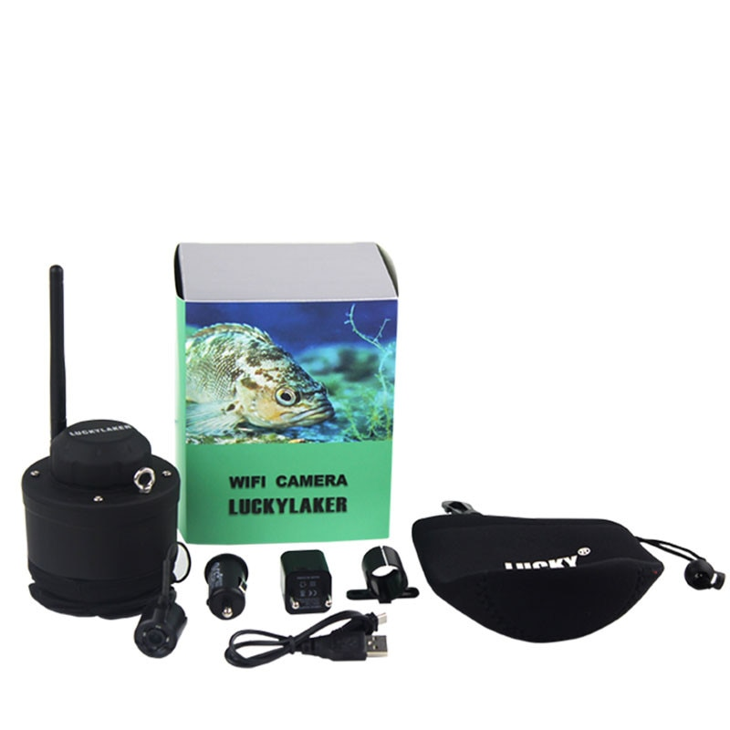 Smartphone LUCKY Wifi fishing camera wireless fishfinder Underwater Camera ice deeper fish finder compatible with phone fishing enlarge