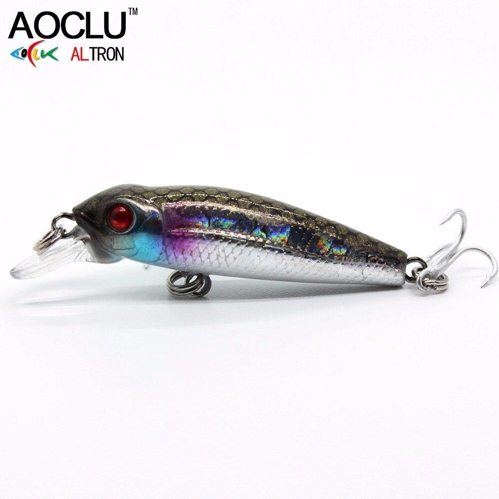 AOCLU новые воблеры 40 мм 2,1 г плавающая твердая приманка мини Гольян глубина 0,5 м Рыболовная Приманка 5 цветов снасти качество NB147