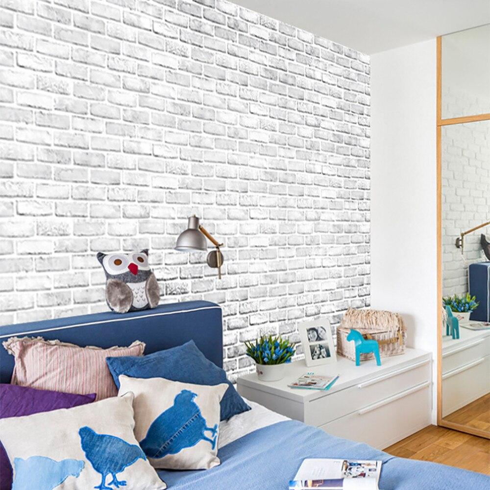 Pegatinas autoadhesivas de pared de piedra de ladrillo 3d para niños habitación de bebé decoración del techo del hogar pared pegatina windows 8
