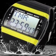 EPOZZ Streamline 7 Colori Back Light Orologio Digitale Uomini di Sport Nuoto ore Orologi Subacquei esterna Relogio masculino maschio clock