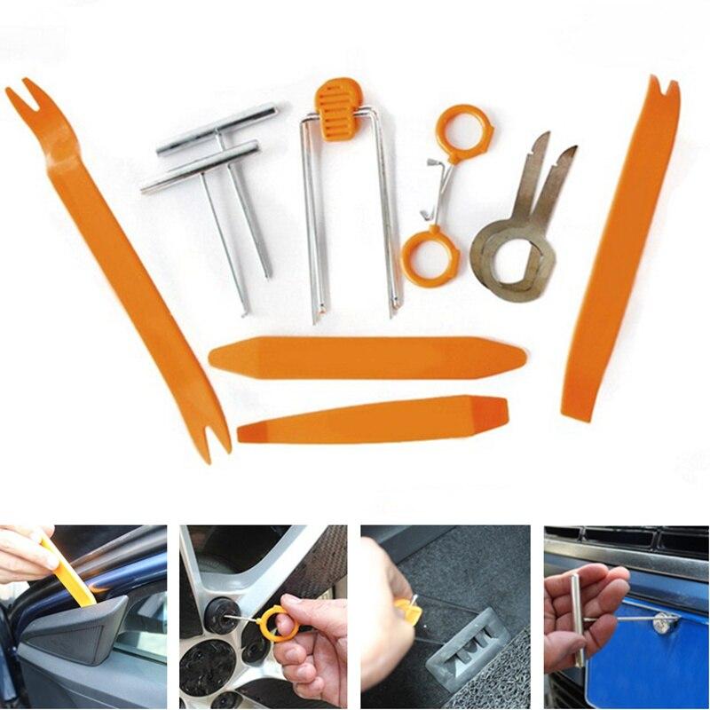 12pcs/set Plastic Pry Tool Trim Removal Tool Car Accessaries for Lada Granta Kalina HYUNDAI Solaris Logan Skoda Octavia