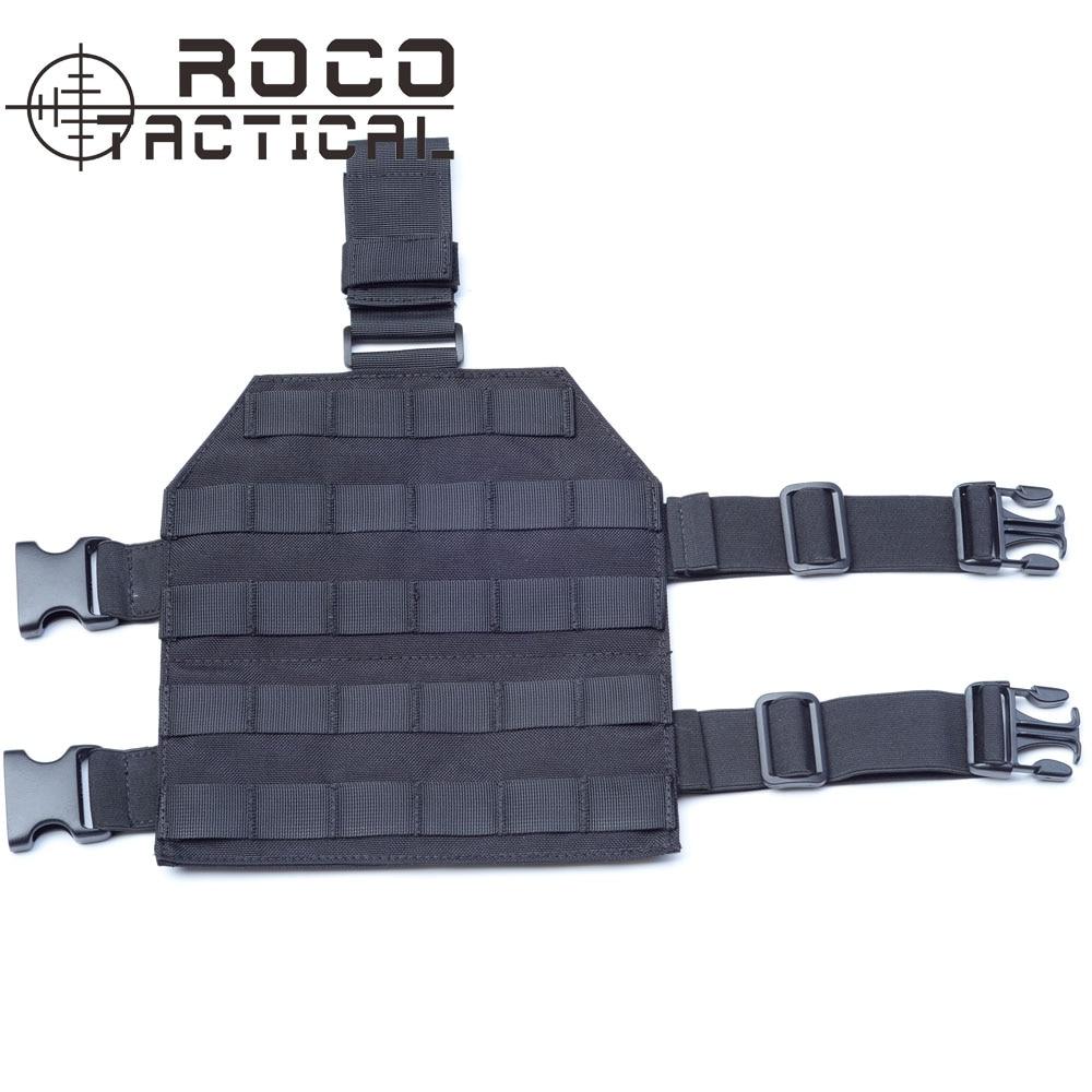 Plataforma de pata de caída táctica Cordura MOLLE ROCOTACTICAL para pistola de Paintball Airsoft con hebilla de liberación rápida