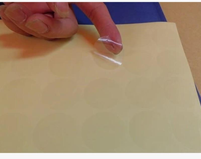Pegatinas transparentes de pvc, 15mm, 20mm, 25mm, 30mm, 40mm, 50mm, pegatinas redondas de sellado transparente para envolver regalos, lote de 1000 Uds.