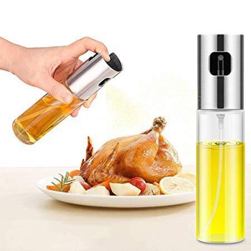 Kitchen Cooking Barbecue Spray Oil Bottle Glass Pot Home BBQ Baking Vinegar Spray Tank Oil Vinegar Dispenser Tool Accessories