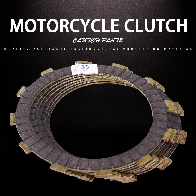 1 6 uds disco de embrague placas de fricción para Honda CB400 VTEC400 CB-1 CB750 CB600F CB400SF CB400AD CB400F CB400S CB400SA CB400SAD