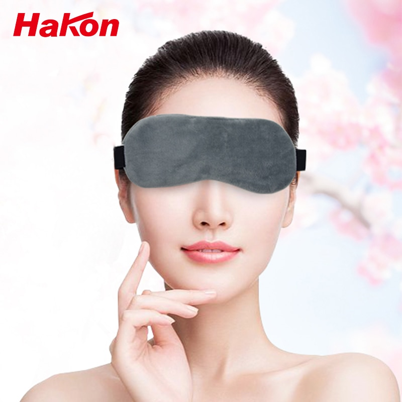 Heating Eye Mask Heated for Eyes Heating Pad Adjustable Temperature Sleeping USB Heated Eye Massage Relieve Dry Fade Black Tired