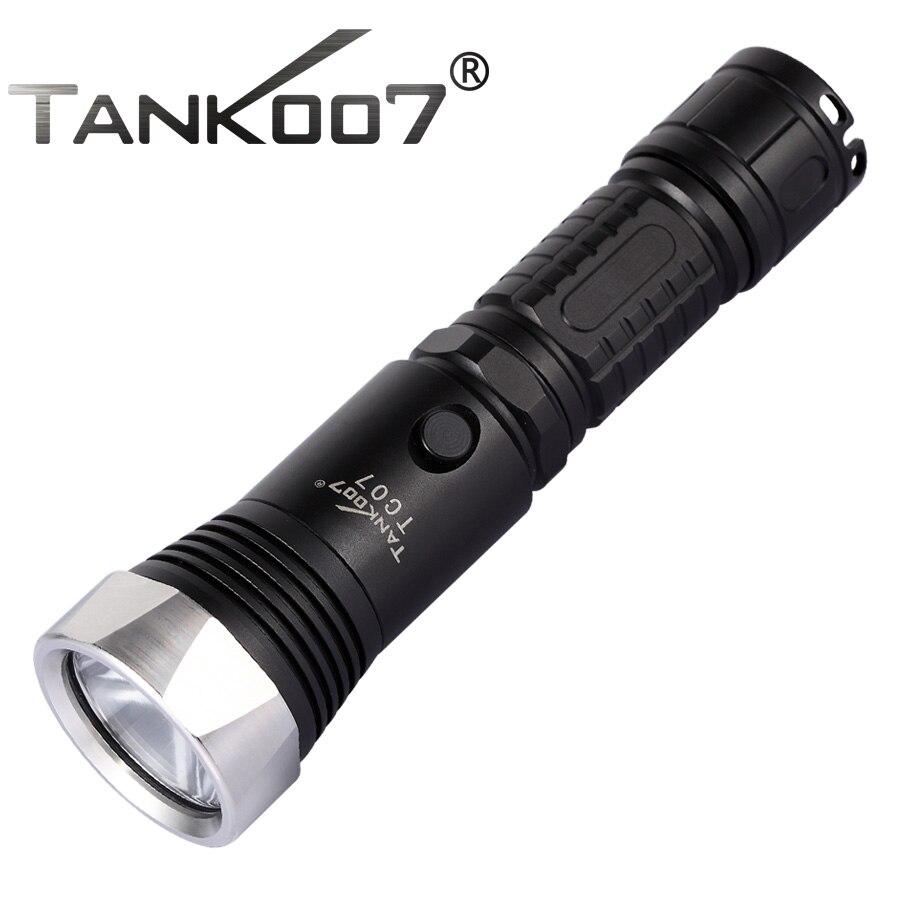 1 комплект TANK007 TC07 5-режимный CREE XM-L U2 полицейский самый мощный светодиодный фонарик с 1*18650 батареей + зарядным устройством