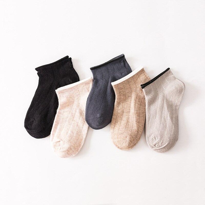 Calcetines para niños, niños, niñas, tobillo, barco, algodón, calcetines acanalados para primavera, verano