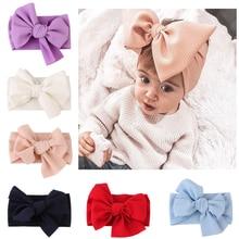 Baby Girl Headbands Newborn Baby Headband Toddler DIY Fabric Bow Knot Headwraps Turban Headwear Baby Hair Accessory