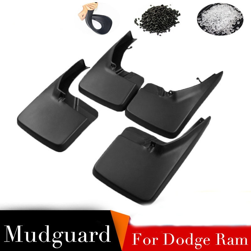 4 pçs/set Lamas Lamas Para Dodge Ram 1500 2500 3500 W/Rodas Traseiras Único Front & Rear Mud Flaps Respingo guardas Fender Carro Styling
