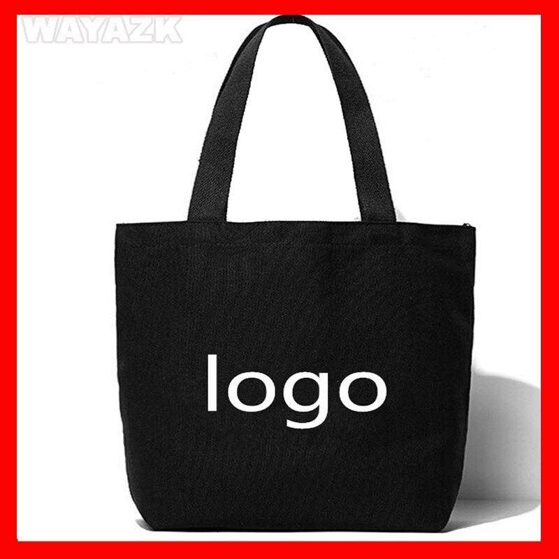 (500pcs/lot) Size 36x36x10 cm  custom black canvas cotton shopping bag with logo