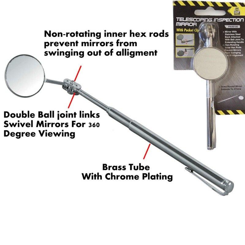Espejo de inspección de mantenimiento automotriz Reflector telescópico plegable Universal tamaño soldadura chasis inspección espejo