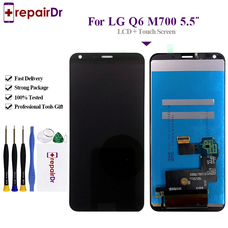 100% Getest Voor LG Q6 M700 M700A Lcd-scherm met Touch Screen Digitizer Vergadering met frame 5.5 Vervanging Voor LG Q6 Lcd