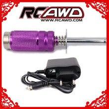 RCAWD bougie de préchauffage allumeur démarreur allumeur HSP 80102-T pour RC modèle voiture Nitro moteur amovible Rechargeable 1800mah SC NIMH batterie