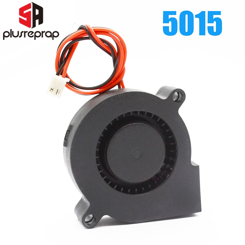 5015 Бесщеточный охлаждающий турбовентилятор 12 V 24 V 50 x 50 x 15 мм DC радиатор для RepRap 3D-принтеры вентиляторпластиковый вентилятор 3д принтер экстр...