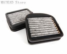 Filtro de polen de cabina de carbón activado de 2 piezas para mercedes-benz W220 S280 S320 S350 S400 S500 S600 A2108301118