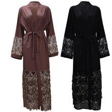 Abayas para damas Bangladesh de malla con lentejuelas musulmán vestido hijab Jilbab Kaftan Abaya Turquía túnica de Dubái Qatar UAE ropa islámica