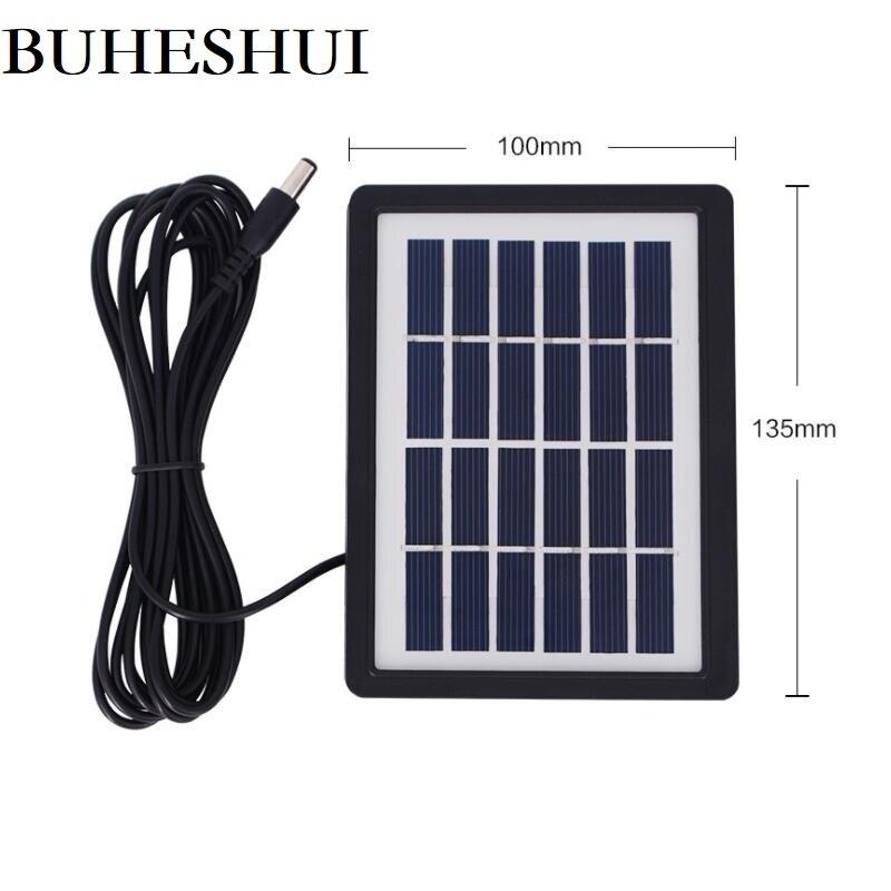 BUHESHUI 2 pièces 1.3 W 6 V Module De Cellules Solaires + 3m Câble DC5521 bricolage Panneau Solaire Chargeur Pour 3.7 V Batterie Système Polycristallin