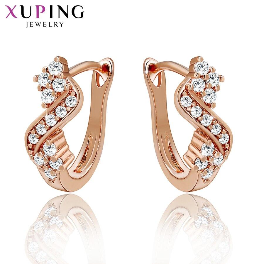 Xuping pendientes de moda nuevo diseño de alta calidad para las mujeres de Color rosa plateado Charm Jewelry Valentine's Day Gift S50-29379