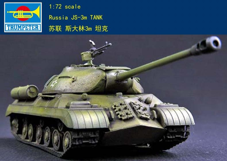 Trompeta 07228 1 72 JS-3M soviético Stalin modelo de montaje de tanque pesado