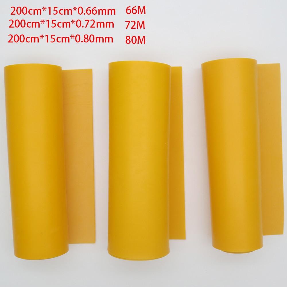 GZK الصين نوعية جيدة لفة المطاط اللون البرتقالي شقة المطاط العصابات 200 سنتيمتر * 15 سنتيمتر * 0.66 مللي متر 0.72 مللي متر 0.8 مللي متر ل DIY المقلاع huinting