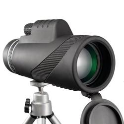 Poderoso 40x60 telescópio monocular zoom handheld telescópio lll visão noturna militar hd caça profissional acessórios