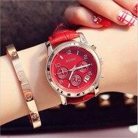 Women Watches 2020 New Stylish GUOU Brand Luxury Wristwatch Leather Watchband Girls Casual Clock zegarek damski