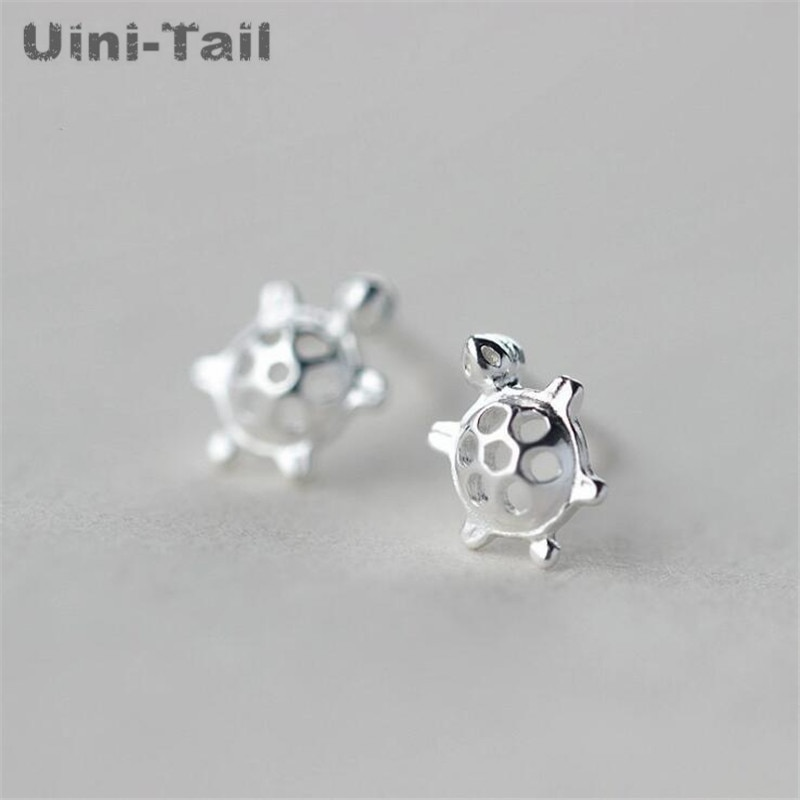 uini-tail-Горячая-новинка-925-Стерлинговое-Серебро-Модные-индивидуальные-милые-животные-маленькие-черепахи-ушные-ногти-трендовые-противоаллерг
