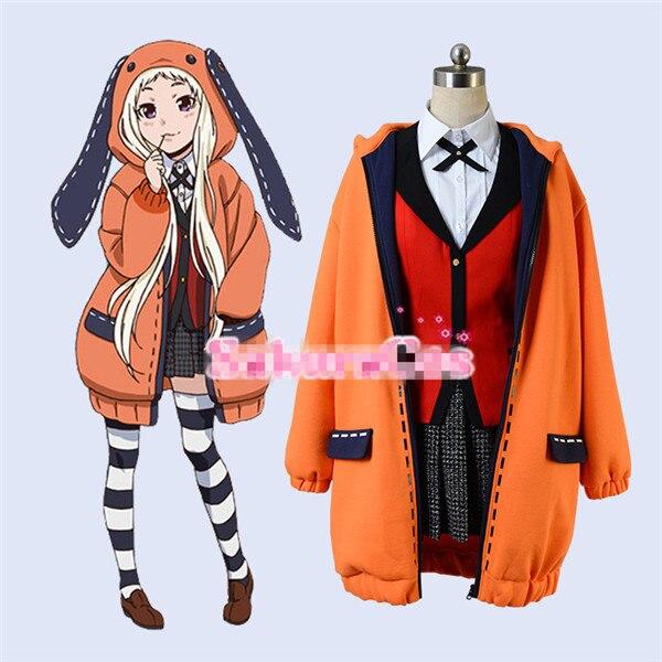 Kakegurui Figure Yomotsuki runa JK école filles uniforme + sweat à capuche Halloween cosplay costume ensembles complets