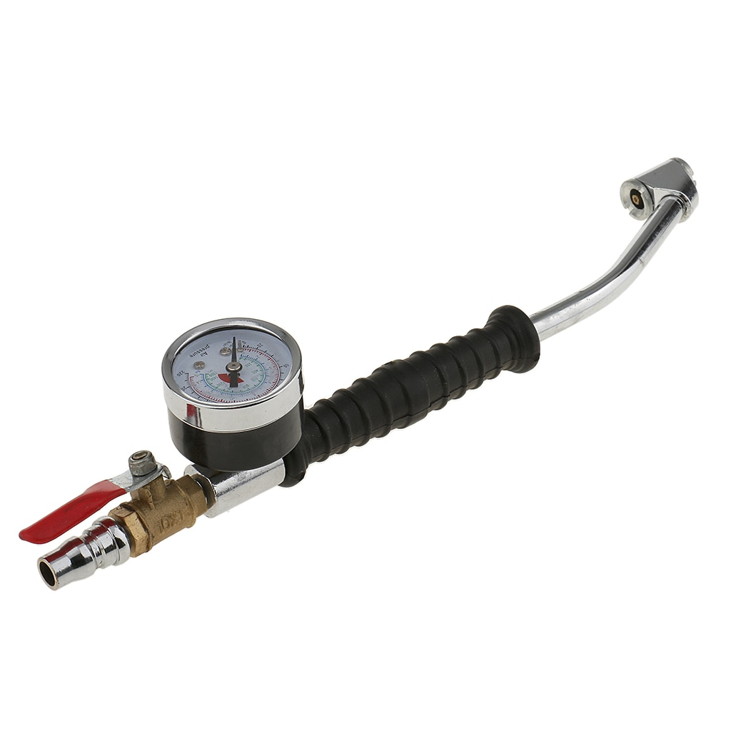1 Set 0-220 PSI Car Motorbike Tire Compressor Inflator with Tyre Air Pressure Gauge Monitor for Car Motorcycle Van Bike Tire