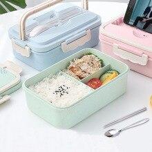 Couvercle scellé vaisselle   Boîte à déjeuner en paille de blé, mode créative micro-ondes couvercle scellé vaisselle conteneur alimentaire, treillis multifonctionnel, boîte à Bento Durable