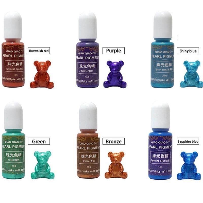 Hot 15g/Bottle Pigment Epoxy UV Resin DIY Handmade Art Crafts Coloring Dye Colorant MDD88