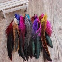 Extensions de cheveux de plumes colorées 12-18cm   1200 pièces, pour plumes de blaireau, selle, plumes de décoration de mariage, vente en gros