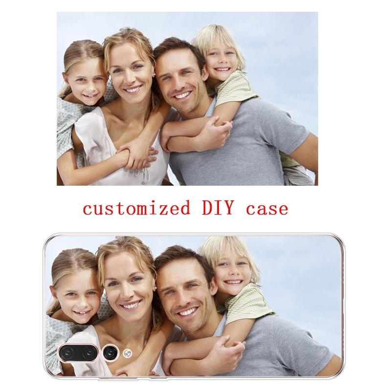 Soft Silicone TPU Phone Case For Huawei P10 P20 PLUS  P10 P20 P30 lite P20 P30 PRO MATE 7 8 9 10 Honor 9 10 Customized Photo