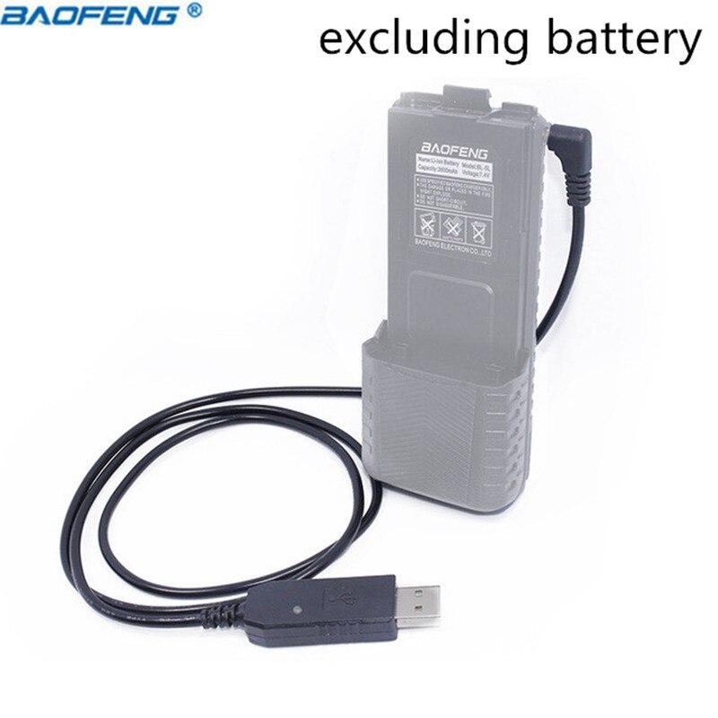 Baofeng USB/Auto Ladegerät Kabel mit anzeige licht für BaoFeng Walkie Talkie UV-5R UV-5RE 3800mAh Hohe Kapazität Batterie