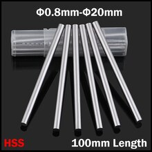 7.8mm 7.9mm 8mm 8.1mm 8.2mm OD 100mm Length HSS Jobber Drill Bit Boring Round Shank CNC Fly Cutter Turning Lathe Tool Bar Rod