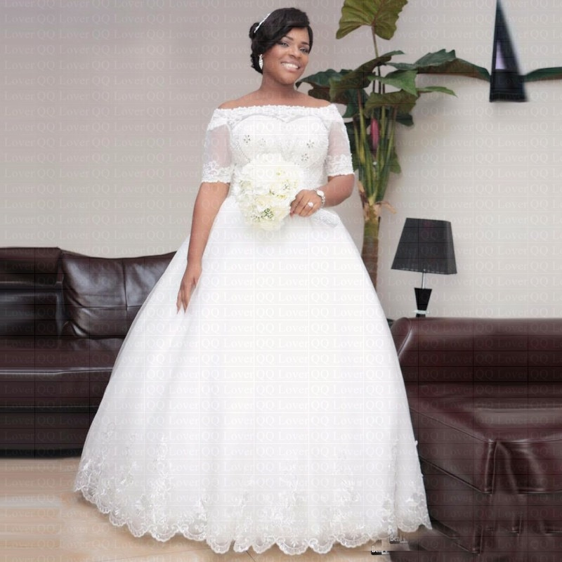 2019 africanos De lujo cristales boda elegante Vestido De manga corta árabe...