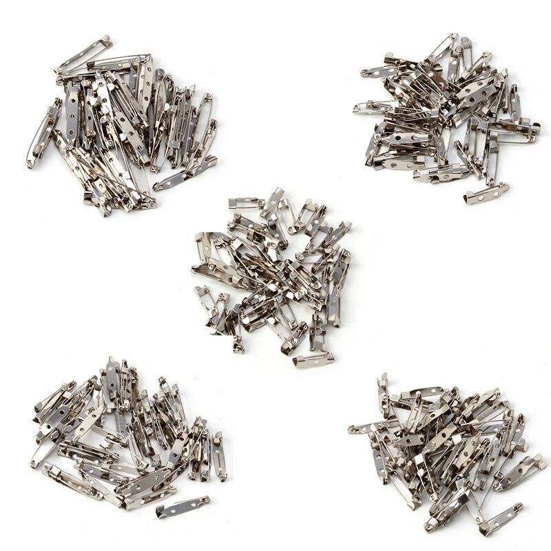 50 Uds Clip de broche pasadores Base accesorios joyería decorativa Ally 15 a 40mm -m15