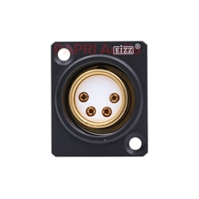 PAPRI EIZZ 4pin femelle XLR prise connecteur prise Hifi Audio casque AMP bricolage 24 K plaqué or cuivre broches téflon isolant
